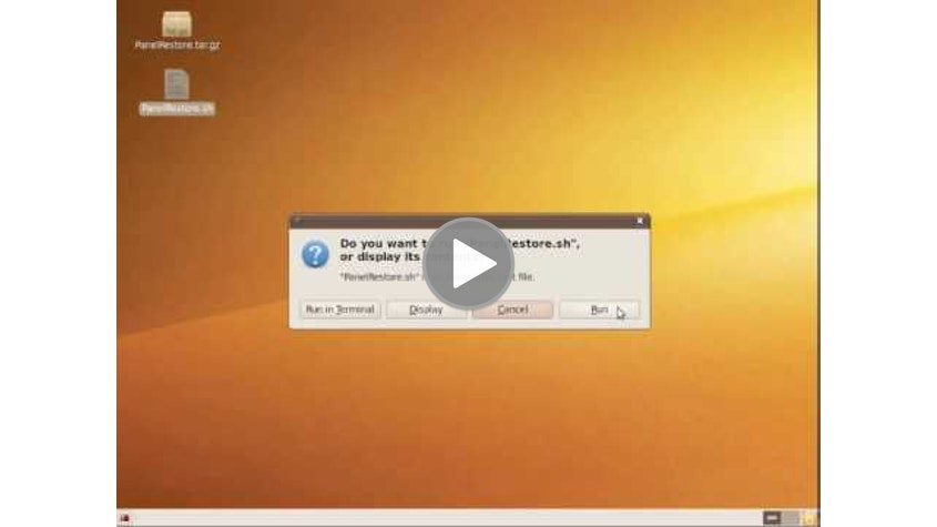 Restore the Default Gnome Panels in Ubuntu